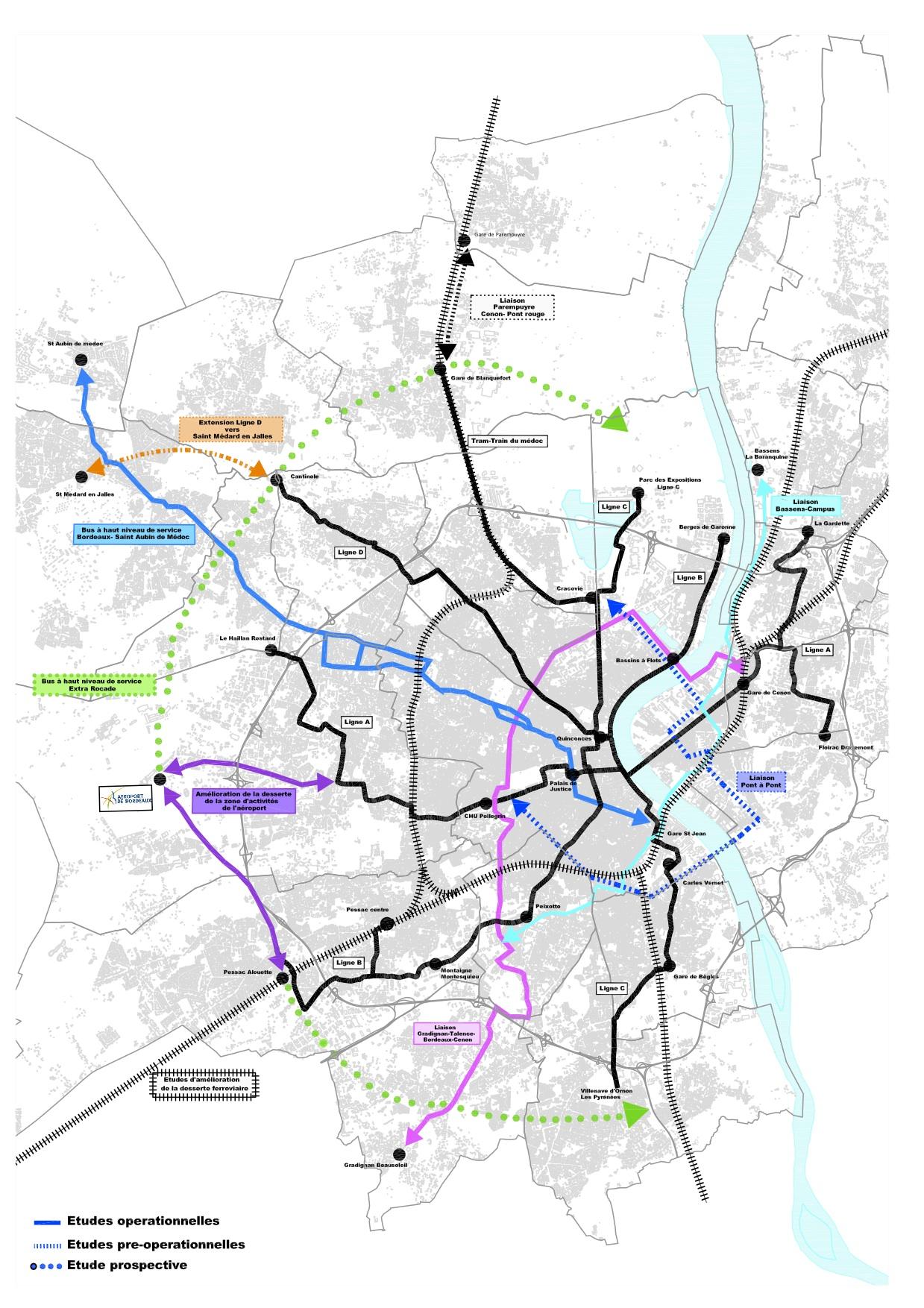 Carte Bordeaux Transport En Commun.Prendre Le Tram A Gradignan Informations